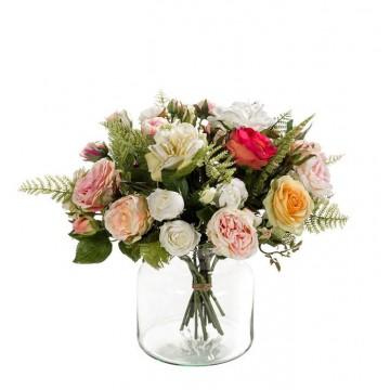 Umělé květiny - Umělá kytice z růží 17 stonků