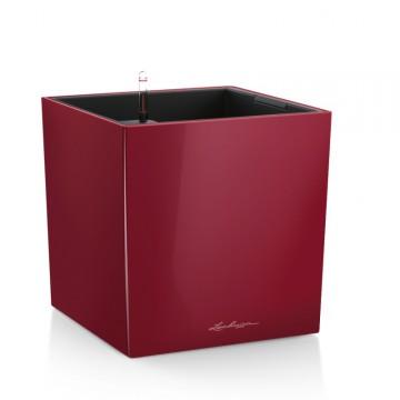 Lechuza květináče - Lechuza Cube Premium 40 Scarlet komplet