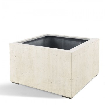 Venkovní květináče - D-lite Low Cube M Concrete 80x80x60cm