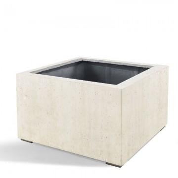 Venkovní květináče - D-lite Low Cube XL Concrete 100x100x80cm