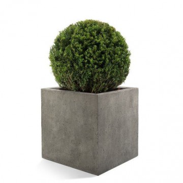 Venkovní květináče - D-lite Cube M Natural Concrete 40x40x40cm