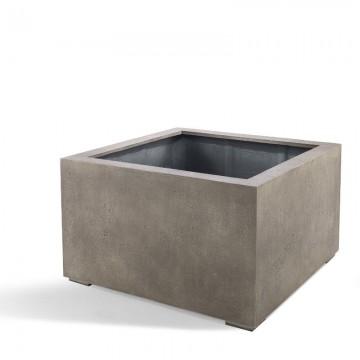 Venkovní květináče - D-lite Cube Low M Natural Concrete 80x80x60cm