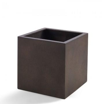 Venkovní květináče - D-lite Cube L Rusty Iron Concrete 50x50x50cm