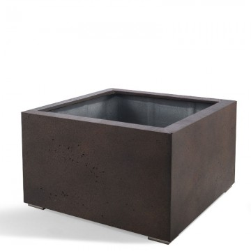 Venkovní květináče - D-lite Low Cube M Rusty Iron Concrete 80x80x60cm