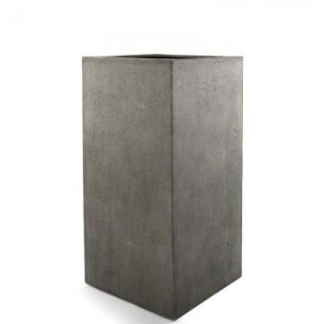 Venkovní květináče - D-lite kvádr M Natural Concrete 35x35x70cm