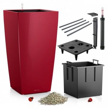 Lechuza květináče - Lechuza Cubico Premium 40 Scarlet komplet