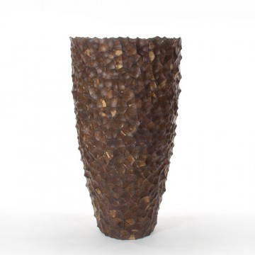 Luxusní květináče - Tunda shell partner hnědý 53x110cm