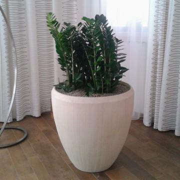 Luxusní květináče - Polystone Natural Couple 50x50cm