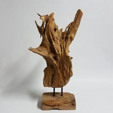 Dekorace - Teaková dekorativní skulptura AC s podstavcem 70cm