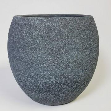 Venkovní květináče - Sebas koule šedá 44x41cm