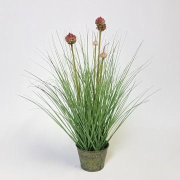 Umělé květiny - Umělá česneková tráva 53cm