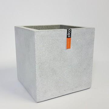Venkovní květináče - Capi Lux krychle šedá 50x50x50cm