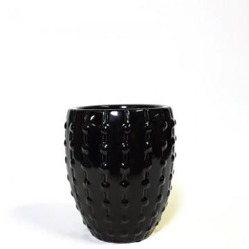 Výprodej květináčů - Mini Laos Black 18x23cm