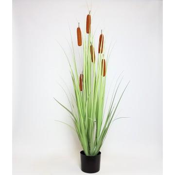 Umělé květiny - Umělá tráva orobinec 110cm