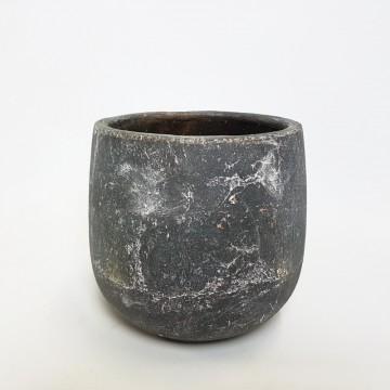 Keramické květináče - Keramický květináč Earth šedý 22x21cm