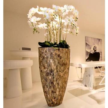 Luxusní květináče - Cemani Teak Partner 43x70cm