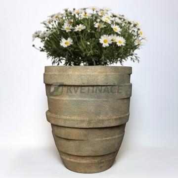 Luxusní květináče - Lite stone varuna grey 46x51cm