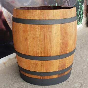 Sudové květináče - Barikovaný dubový květináč 170 litrů 63x72cm