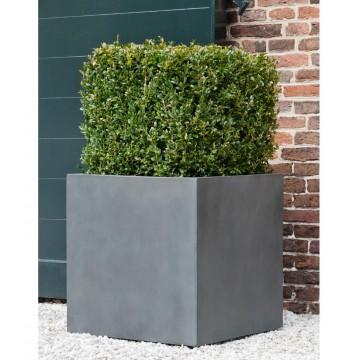 Venkovní květináče - Fiberstone Square Grey 50x50x50cm