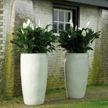 Keramické květináče - White Partner 46x90cm