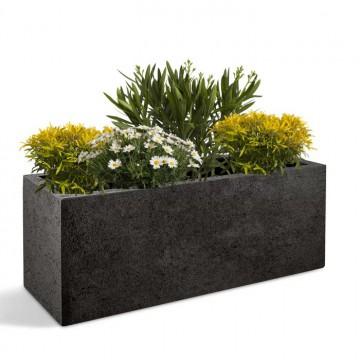 Venkovní květináče - D-lite truhlík M hrubý tmavě šedý 80x30x30cm