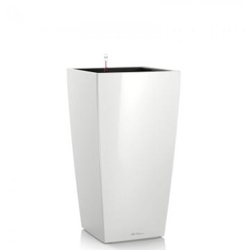Lechuza květináče - Lechuza Cubico Premium 30 White komplet