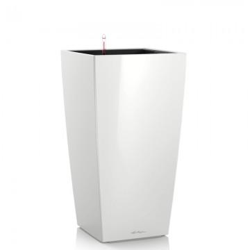 Lechuza květináče - Lechuza Cubico Premium 40 White komplet