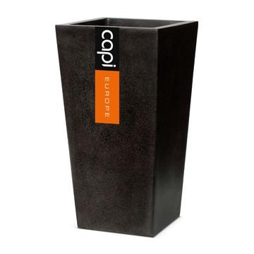 Venkovní květináče - Capi lux kvádr kónický černý 32x32x60cm