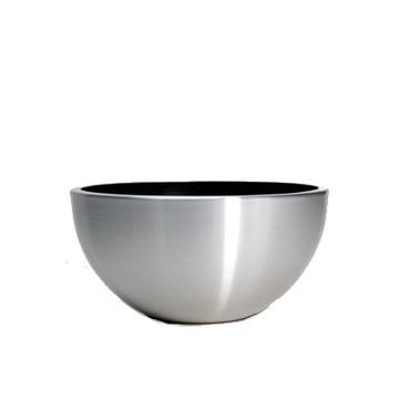 Kovové květináče - Aluminium Bowl Brushed 35x15cm