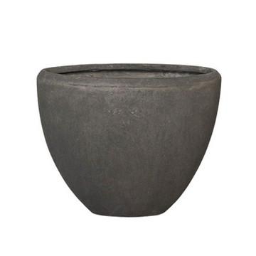 Luxusní květináče - Polystone Smoke Oval 38x18x30cm