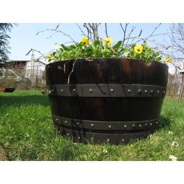 Sudové květináče - Dubový květináč klasik 55 litrů 60x30cm