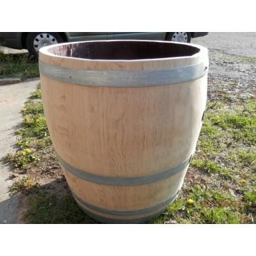 Sudové květináče - Barikovaný dubový květináč natural 170 litrů 63x72cm