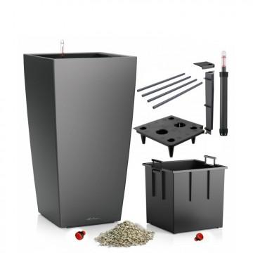 Lechuza květináče - Lechuza Cubico Premium 30 Antracit komplet