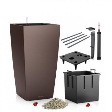 Lechuza květináče - Lechuza Cubico 30 Espresso komplet