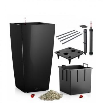 Lechuza květináče - Lechuza Cubico Premium 30 Black komplet