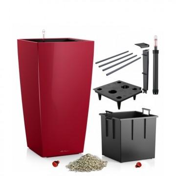 Lechuza květináče - Lechuza Cubico Premium 30 Scarlet komplet