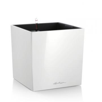Lechuza květináče - Lechuza Cube Premium 40 White komplet