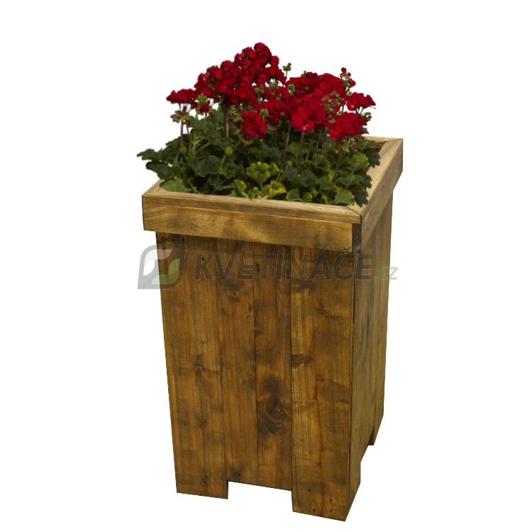 Nábytek z palet - Květináč Euro Wood vysoký 33x33x67cm