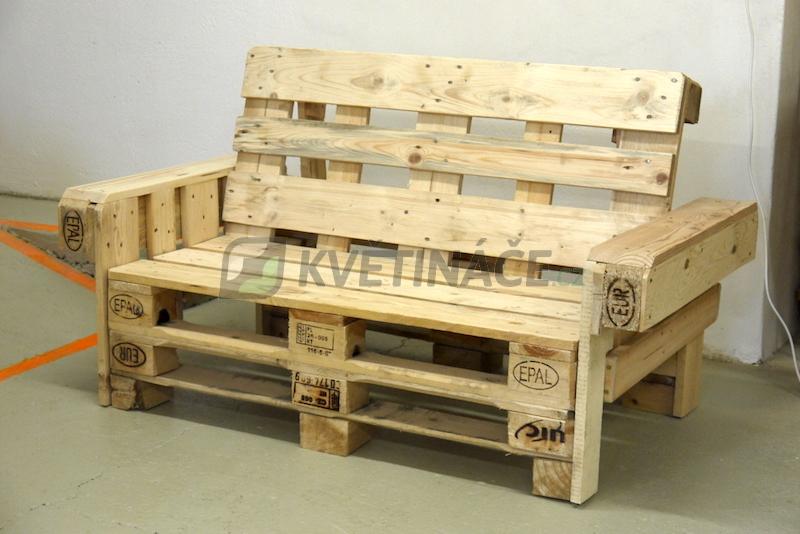 Nábytek z palet - Lavice z palet Euro Wood 148x80x85cm