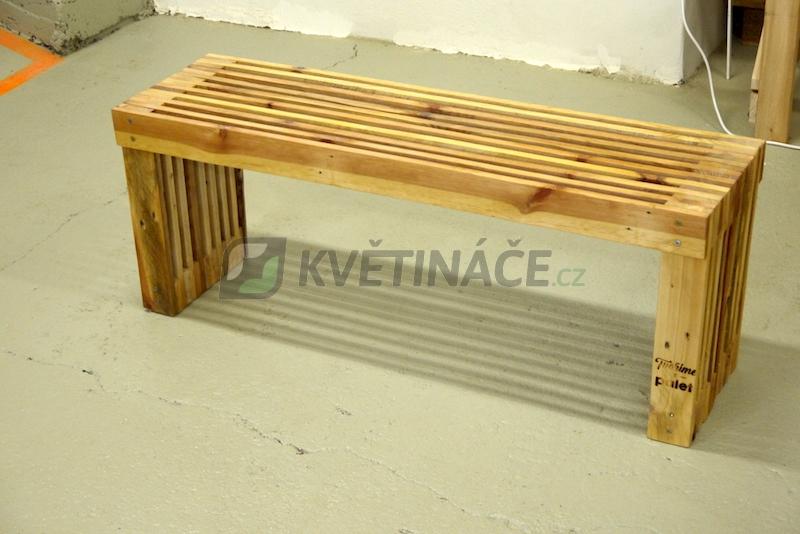 Nábytek z palet - Lavice z palet Euro Wood 110x30x44cm