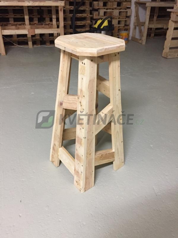 Nábytek z palet - Barová stolička z palet Euro Wood 40x40x80cm