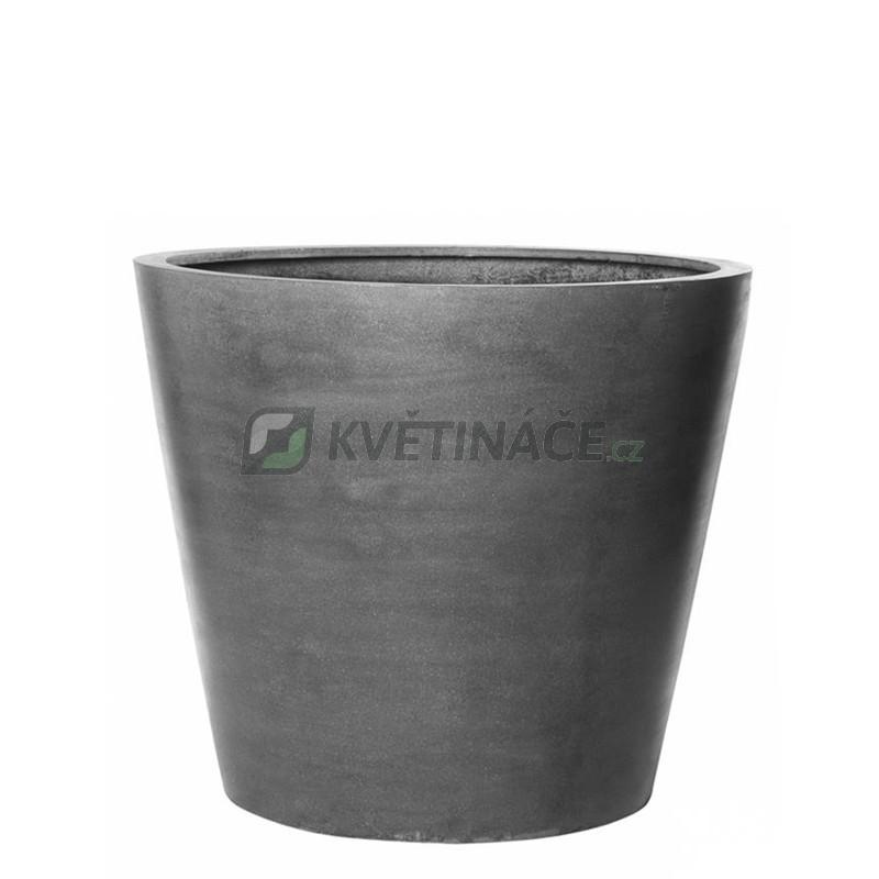 Venkovní květináče - Fiberstone Bucket Grey mat 40x35cm