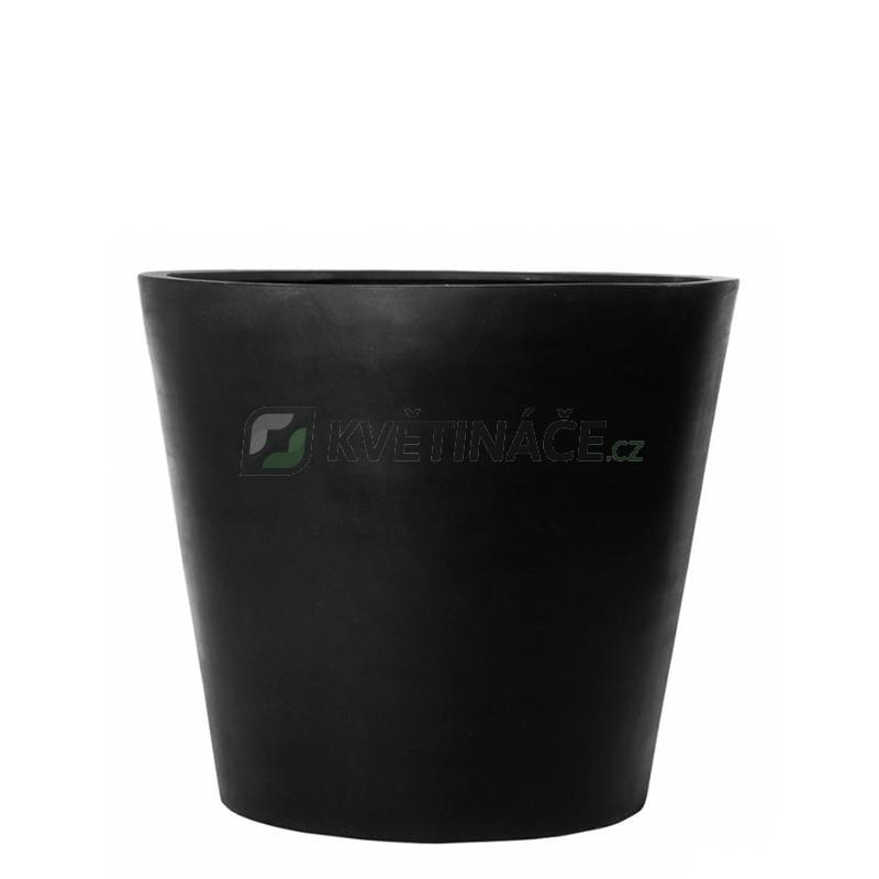 Venkovní květináče - Fiberstone Bucket Black mat 40x35cm