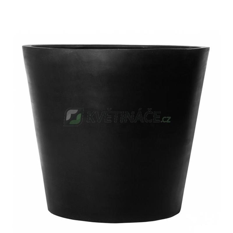 Venkovní květináče - Fiberstone Bucket Black mat 50x40cm