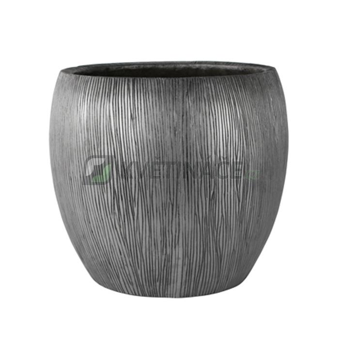 Venkovní květináče - Twist klasik stříbrný 42x39cm