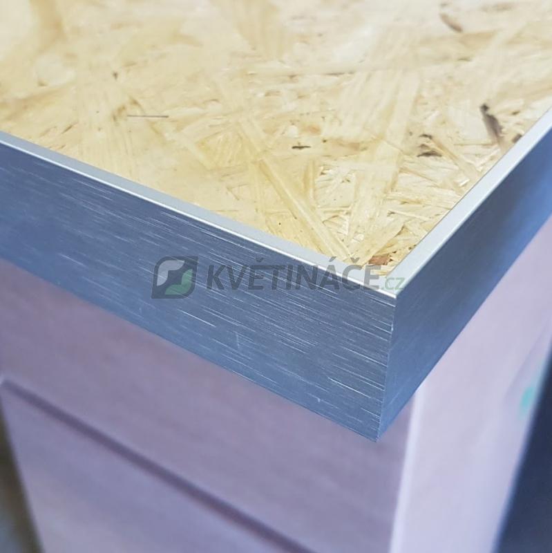 Zelené stěny - Hliníkový rám matný slim 50x50cm pro stabil. mech