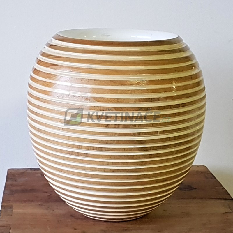 Bazar květináčů - Váza Woody Honey Shine 32x33cm - BAZAR