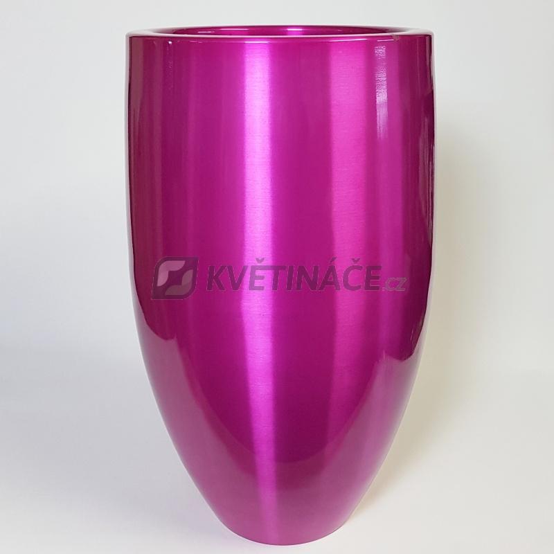 Kovové květináče - Aluminium Bubba Pink 49x82cm