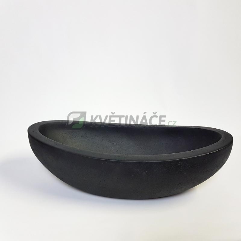 Luxusní květináče - Polystone Smoke Boat 46x20x13cm