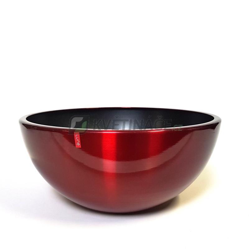 Kovové květináče - Aluminium Bowl Red 43x18cm